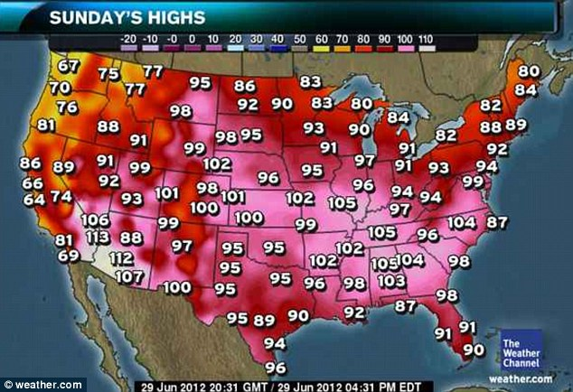 Sunday: Meteorologists say the heat wave will continue over the weekend