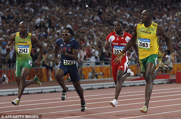 Taboo: Usain Bolt (right), pictured winning the Olympic 100m final in Beijing in 2008, was born in Trelawny Parish, Jamaica, where British Olympic boss Lord Coe¿s plantation-owning ancestor George Hyde Park had 297 slaves
