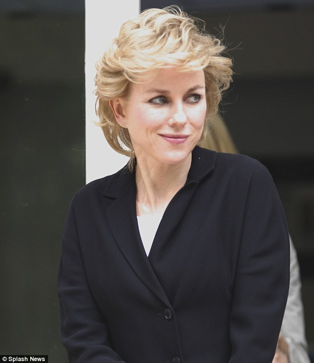 Seeing Diana: Naomi Watts bears an uncanny resemblance to the late Princess Diana as she stepped out in character for her role in new film Caught In Flight