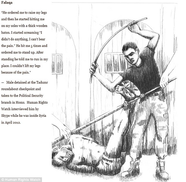Harsh: Falaqa involves beating the detainee with sticks, batons, or whips on the soles of the feet