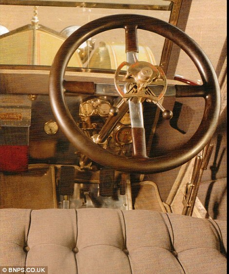 The front seat and                                                          steering