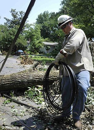 Continuing to fix errors: Six days after a massive storm hit the east coast, electric company Pepco is still working to give power back to all of its customers in the areas surrounding Washington, D.C.
