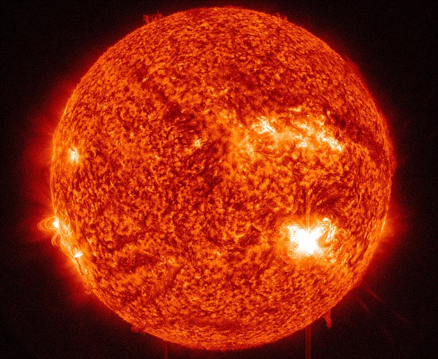 NASA's Solar Dynamics Observatory saw an active region on the sun, labeled AR1515, sent out an M5.3 class solar flare that peaked on Independence Day July 4th, 2012