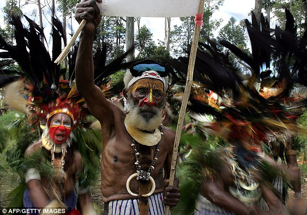 Part of the culture: Sorcery and witchcraft is widely believed in Papua New Guinea, which brought in a Sorcery Act to protect against attacks on those accused of practising black magic (file picture)