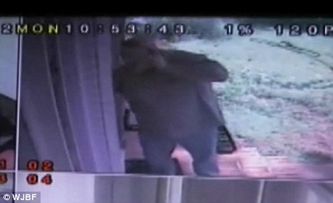 Intruder: After knocking on the woman's door a few times, Vowell let himself in