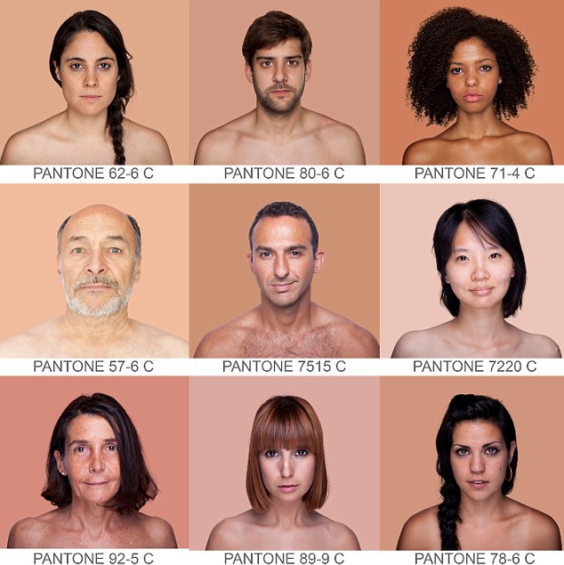 Diverse: An artist is using the universal Pantone colour system to document every shade of human skin tone