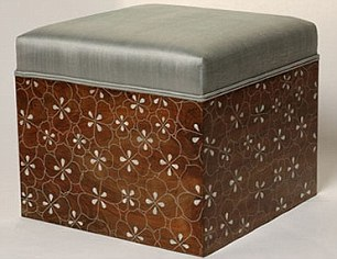 daisy ottoman - similar to the items bought by Asam Assad