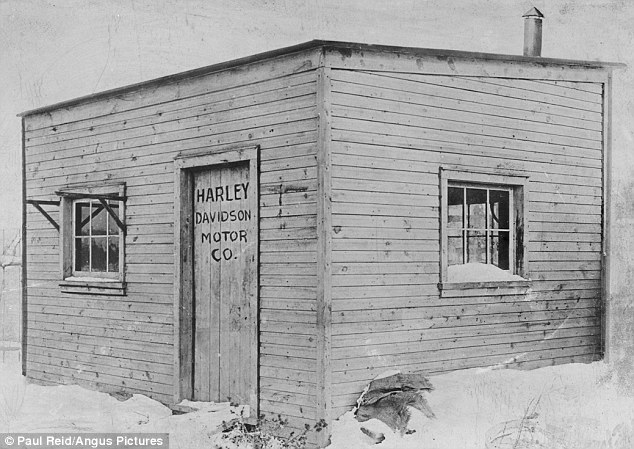 Work: The factory in which the Davidsons and William Harley worked was a 10 x 15-foot wooden shed