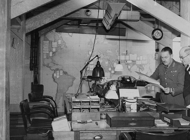 One of the War Cabinet offices built deep beneath Whitehall