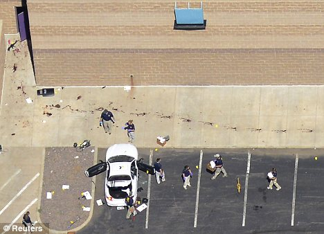 Massacre: 12 people were left dead and 58 injured in the Colorado shooting