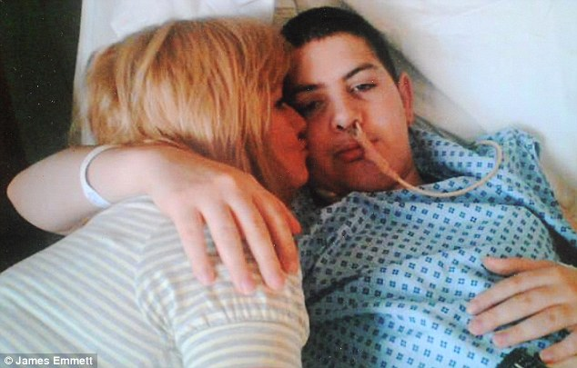 Victim: Kane Gorny and his mother Rota Cronin. The 22-year-old had been admitted to one of the UK's top teaching hospitals for hip replacement surgery, but within three days he'd died of thirst
