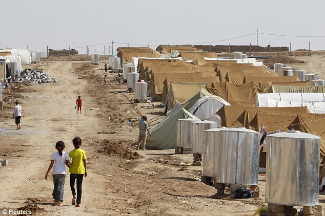 Shelter: The Domiz camp for Syrian refugees in the northern Iraqi province of Dohuk