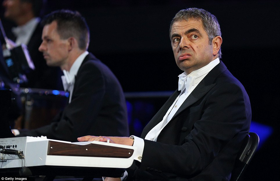 Rowan Atkinson in his role as Mr Bean takes part in an Opening Ceremony sketch