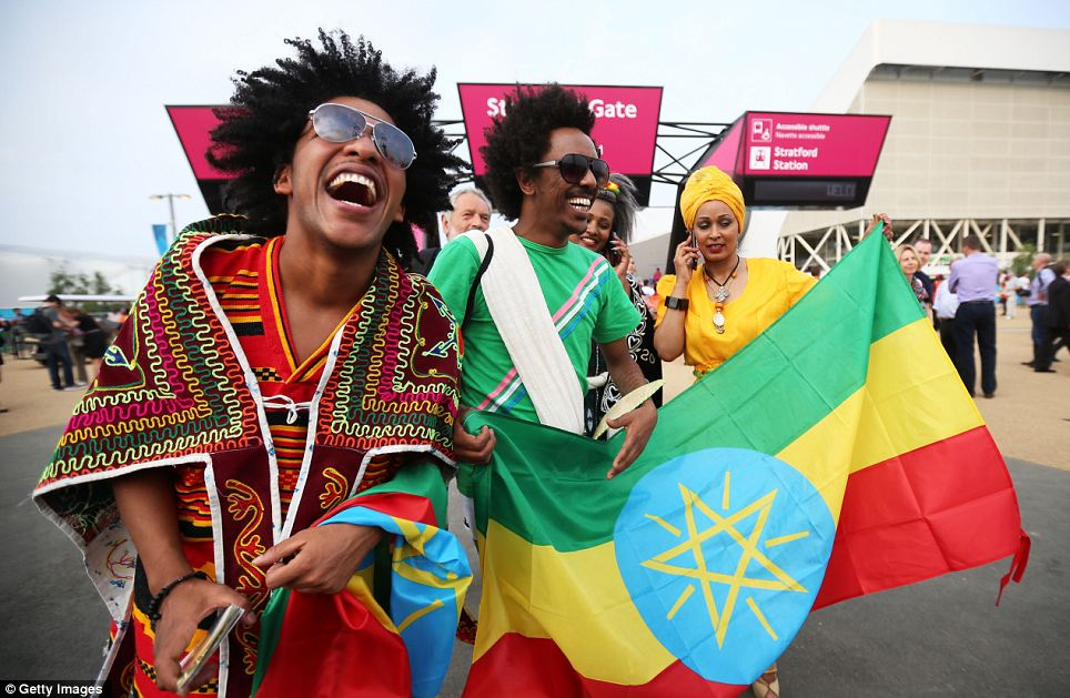 Ethiopia fans enjoy the atmosphere