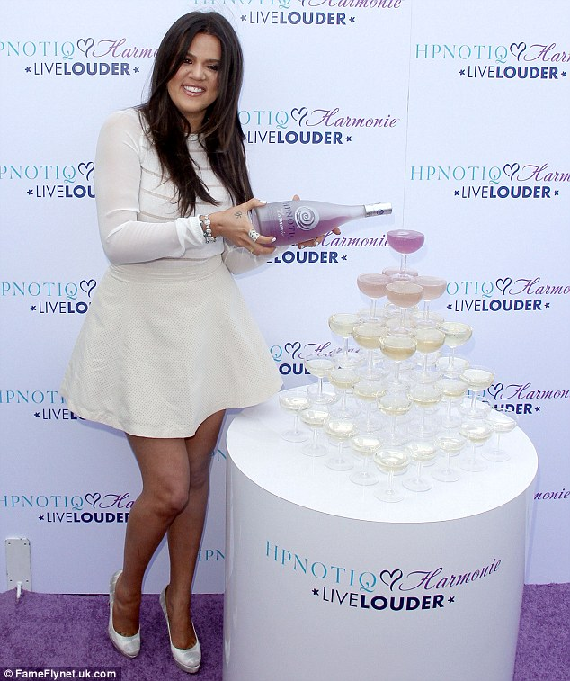 Living the charmed life: Khloe Kardashian celebrates the launch of her cocktail recipe for HPNOTIQ Harmonie Liqueur, held at Mr C Hotel in Beverly Hills