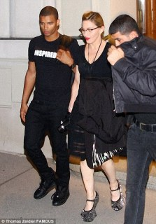 Attention grabbing: Madonna stepped out wearing a pair shiny heel-less shoes in Vienna, Austria