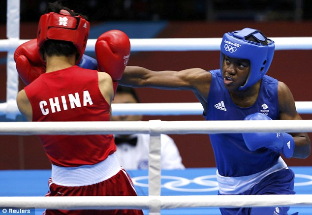 Take that: Adams was simply too strong for her opponent at the ExCel on Thursday