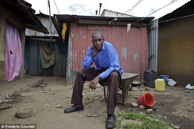 George Hussein Obama, the half-brother of the most famous man in the world, pictured in the Nairobi slum he calls home