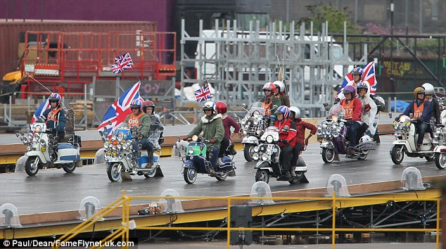 Mods on scooters, representing a landmark time in modern British cultural identity, are also set to feature in the showcase ceremony