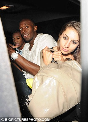 Time for bed: Bolt was seen entering the cab with a girl