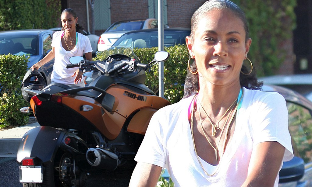 Jada Pinkett Smith Goes For A Ride On Motorcycle Daily