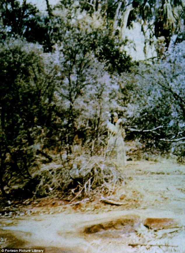 Spooky woman at Alice Springs in Australia