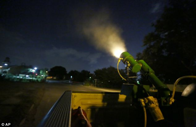Parts of north Dallas are being sprayed with insecticide to combat the spread of the virus