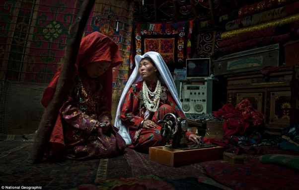 This image was shot in the Kyrgyz lands of the Wakhan Corridor. The intimacy of this everyday life moment, shot inside of a family yurt, is in total contrast with the harsh environment these nomadic tribes live in