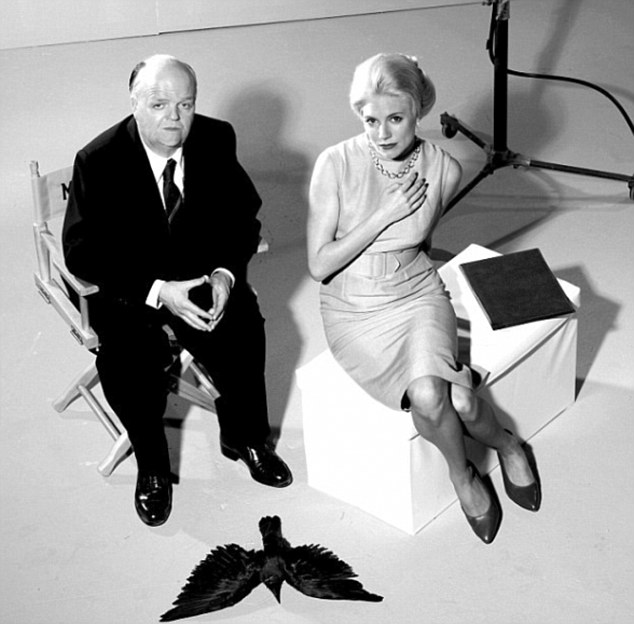 Fraught relationship: A still from the new film; Hitchcock was obsessed with his star