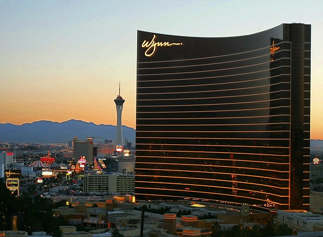 Plush: The incident is believed to have taken place in a suite at the Wynn resort in Las Vegas, pictured