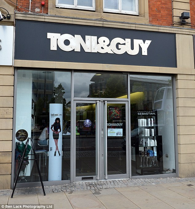 Upmarket: Mrs Mashayekhi worked for Mr Story at this Toni & Guy salon in Sheffield city centre