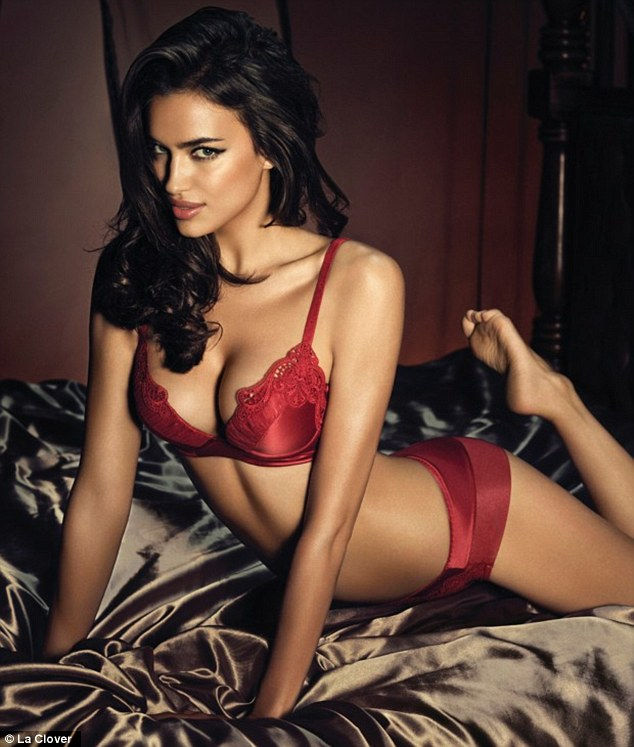 Come hither: Irina shows off the curves that tamed Cristiano Ronaldo
