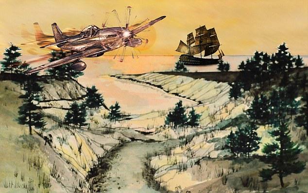 Impar: Ilustraciones salvajes fantasías, todos atraídos por Jeffrey Johnson, que representan barcos piratas, aviones de combate, y mujeres desnudas - a veces en la misma escena