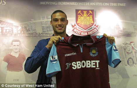 Done deal: Andy Carroll has signed on loan for West Ham from Liverpool