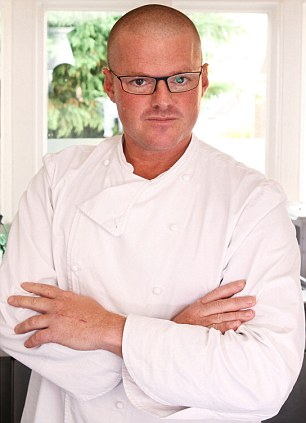 Mr Rogan has yet to topple television chef Blumenthal, pictured, whose restaurant The Fat Duck has topped the Good Food Guide for the past five years