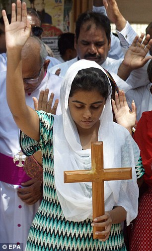 Today's arrest has sparked protests from Pakistani Christians in support of Rimsha Masih