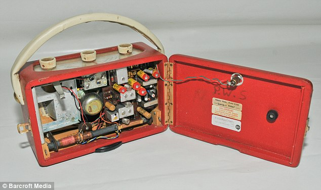 Possessive: Sutcliffe put his initials on nearly all his belongings - including inside his prized Roberts radio