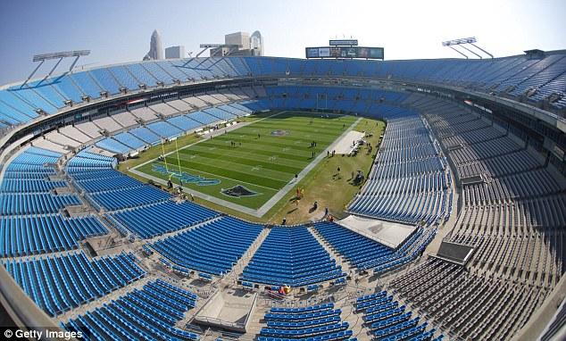 The Bank of America stadium site - which seats 74,000 - where U.S. President Barack Obama WAS set to give his acceptance speech at the Democratic National Convention in Charlotte