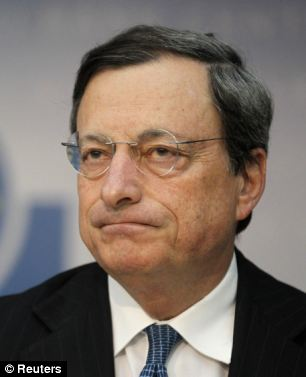 'Row': ECB president Mario Draghi has said the bank will buy the debt of troubled eurozone countries