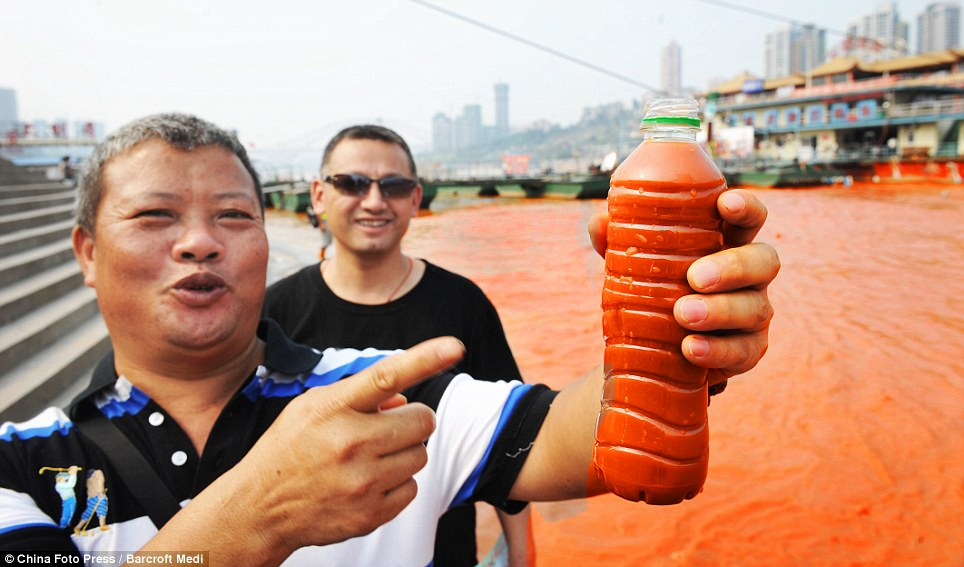 Check it out! Some residents were so amazed that they collected samples in water bottles