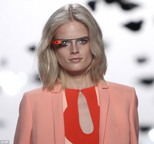 Model: Some of those on the catwalk also wore the glasses as part of an upcoming documentary