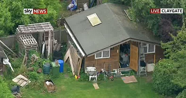 Swoop: The investigation is reported to be centred around the shed in the family home