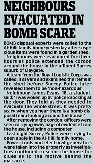 Los vecinos evacuados en amenaza de bomba