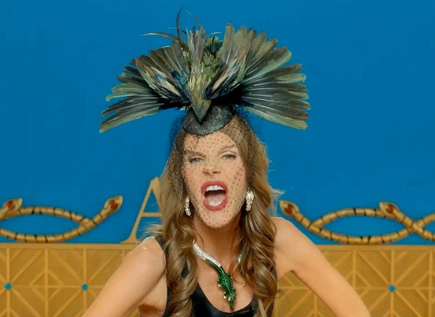Wear if you dare: This outlandish feather hat is part of the range as well as the crocodile necklace