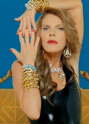 Gold rush: The Eurotrash style video showcases the jewellery which will be in H&M stores from October