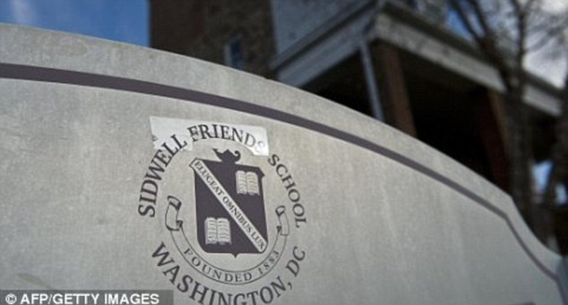 Controversial: The elite private school in Washington DC charges students $70,000-per year