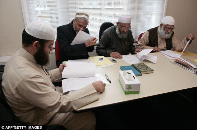 The Sharia Council of Britain preside over marital cases at their east London headquarters
