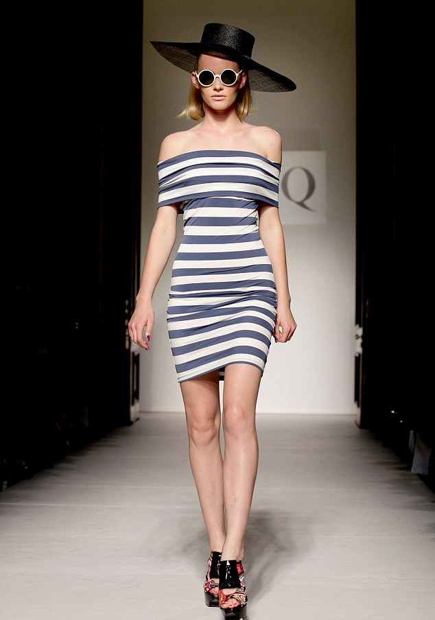 Nautical chic: Riviera stripes ran like a seam through the collection