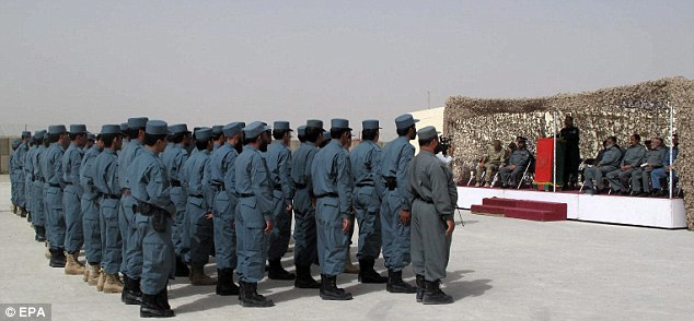 Horror: Two British soldiers were gunned down by a man in an Afghan police uniform (file photo)