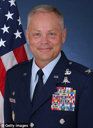 Replaced: U.S. Air Force Col. Glenn Palmer, pictured, was ousted last month from the position Liddick takes as attention to the scandal intensified